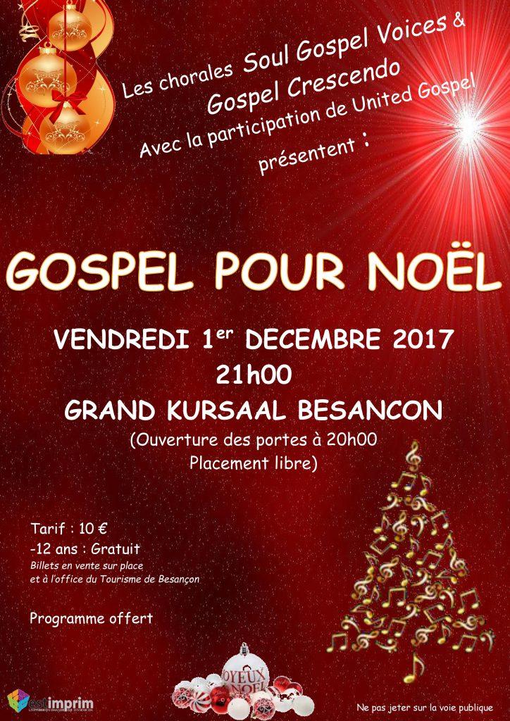 Gospel pour Noël 2017